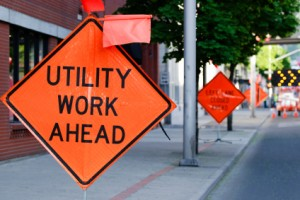 Utility Work Ahead Lane Closure 424x283